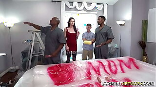 Painters With Big Black Cock Pine Horn-mad Mom Aria Khaide In Front Of Her Stepson