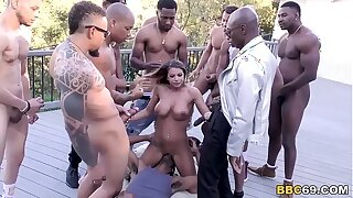 Brooklyn Go out after Interracial Orgy