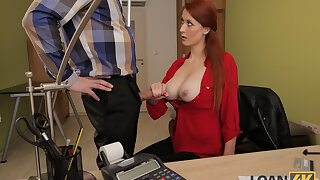 LOAN4K. Prex redheaded MILF has mating with a hung scrounger