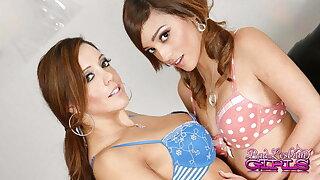 Lesbians Francesca Le and Melanie Rios Tangle On The Nautical galley