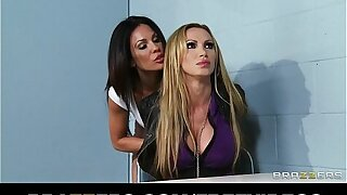 Dominant flatfoot Kirsten Price seduces and fucks her busty suspect