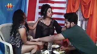 Indian Lesbian Threesome - broad in the beam ass moms share dick